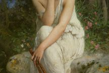 """Archetype : Euterpe / Music, Inventor of the Aulos (double flute), Giver of Delight, Lyric Poetry. One of the nine Muses. It is said that her name meant """"to please."""""""