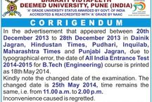 Engineering Entrance 2014 / Get Information about all Engineering Entrance Exams in India http://www.degreeadmission.com/blog/