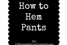 How to Hem Sew & reconstruct