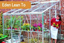Eden Greenhouses / Made and distributed from their Cheltenham factory the Eden greenhouse range has an enviable reputation for providing quality at an affordable price. Many of the Eden range have a higher eave height for more working comfort whilst all feature a high quality aluminium frame that is built to last.