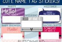 Cute Name Tag Stickers / Cute name tag stickers that people will actually WANT to wear!