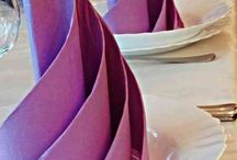 Pliage serviettes de table