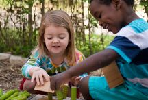 Building / Providing an outdoor area with a nice, hard-surface and natural building blocks for open-ended construction provides children with opportunities to strengthen visual-spatial skills, mathematics and abstract thinking.  Oh, and it's so much FUN!