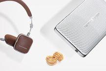 Ready for our Close-Up: Harman Kardon Esquire Mini and Soho headphones / The Harman Kardon Esquire Mini Wireless Portable Speaker and the Harman Kardon Soho Wireless headphones. Your perfect travel companion.