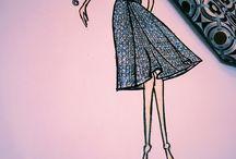Fashion sketches / Fashion illustration by Anna Morgun for @annamorgun