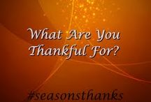 #Seasonsthanks / We want to hear what you are thankful for this holiday season. We are teaming up with Transformations treatment center and TreatmentHelp and are giving away two $100.00 gift cards to two special people. To be entered submit a picture of yourself holding up a sign of what you are thankful for using #seasonsthanks. Either post the picture on our page or submit via twitter or instagram using @SpiritualRiver . Make sure to use the hashtag as well. The winner will be randomly selected on 11/20/2014. / by Spiritual River Addiction Help & Alcoholism Treatment