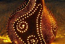 Ceramic lamps, clay lanterns