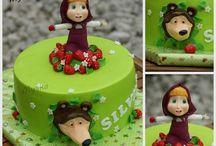 Gâteaux 3D Masha & Michka