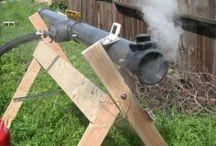 Steaming wood