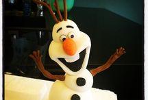 Olaf der Schneemann als Torten Figur.