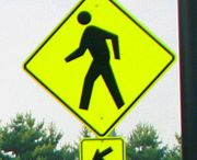 Signage / The signs on a parking lot indicate to drivers where to park, drive, and the presence of hazards such as intersections and pedestrian crosswalks. Federal laws also dictate the requirements for ADA handicap parking signage including maximum penalty and van accessible indicators.