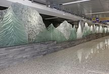 Glass sculpture - Calgary International Airport