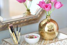 Bandejas / Veja como usar bandejas na decoração e organização da casa.