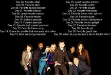 30 Days Doctor Who Challenge
