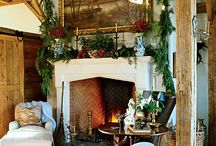 Christmas Mantle Ideas / Ideas to decorate your fireplace mantle / by Pine Cones and Acorns Blog