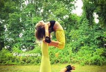 yoga mom and kid