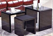 Black Nest Of 3Tables High Gloss Coffee Side Table