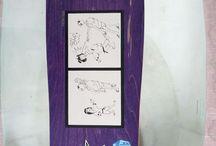 "Alien Workshop NOS Neil Blender Action Graphics ""SC"" Purple #AlienWorkshop"