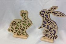 Easter laser cut