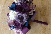 Un si beau Bouquet en Tissu / Bouquet de Mariée en Tissu