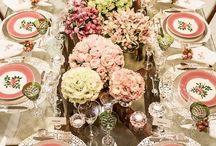 decoração para mesa de jantar