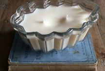 Vintage Soy Wax Candles / The Botanical Candle Co. hand poured soy wax candles in reclaimed containers.