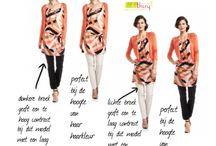 Outfits / Kleding & kleur & vorm