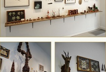 Showcasing Art / Interesting ways to display artwork in your home or office.