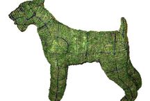 Topiary Dogs and horses