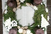 my wreaths and winter decorations