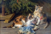 Cats in Art-Henriette Ronner-Knip at The Great Cat / Find over 100 Cat and Kitten Paintings at http://www.thegreatcat.org/the-cat-in-art-and-photos-2/cats-in-19th-century-art/henriette-ronner-knip-1821-1909-dutch/