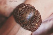 tribal boho style wood macrame bracelet / natural tribal boho style macrame bracelet for women