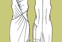 Драпировка в платьях