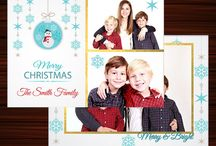 Holiday Christmas Photo Card Template Photoshop template for photographers