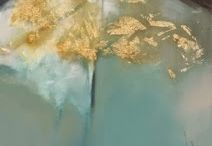 Gold Leaf Paintings by Intuitive Artist Joan Fullerton / Gold Leaf Paintings by Intuitive Artist Joan Fullerton