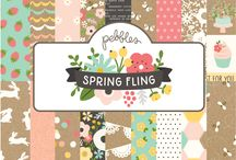 Spring Fling / Celebrate fresh flowers, fun festivities and new beginnings with Pebbles' newest collection, Spring Fling! You'll be ready to decorate in style with basic designs of polka dots and stripes complemented by a color palette of kraft, chalkboard, sunflower and gold. Spring Fling is perfect for any occasion from parties to showers and everything in between. Colorful florals, bright confetti and simple hand lettering help personalize and embellish decorations and invitations alike. / by Pebbles Inc