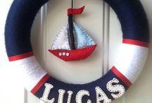 nautical baby shower wreath | Baby Shower