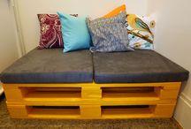 sofá com pallet