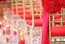 Red Wedding Colour Theme / The colour Red can definitely make a bold impression or signify love with accents of red roses