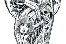 tattoos - skteches & ink
