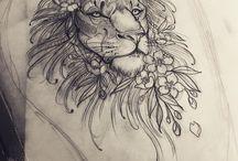 lion fleur