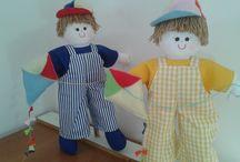 BONECO DE PANO / Lindos bonecos de pano para decorar sua festa ou o quartinho de seu bebê