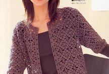 Japanese Filet Crochet Woman Cardigan Top Pattern