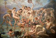 "Adolphe La Lyre 1848 - 1933 /  He built a villa which takes the name ""Castle of the Sirens."" Where he lived and painted."