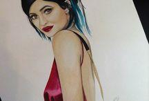 Kylie Jenner / Artwork, Portrait of Kylie Jenner by Devon Tucker (Devon's Designs)
