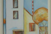 Paintings by Julianne Hadvig / obrazy maľované akrylovými a olejovými farbami