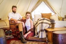 Glamping Inspried Photo Shoot / Inspirational shoot in the mountains of North Carolina showcasing Erin Grey Couture bridal separates.