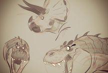 Animal and dinosaur drawings