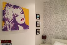 Paintings and Art Work In Homes / Photos of my paintings in various peoples homes.... To but work or commission work for your home visit www.splinteredstudios.vom