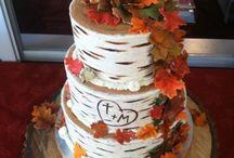 Autumn weding cake